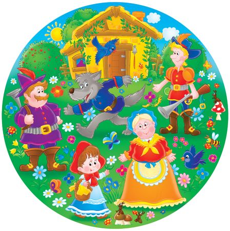 cartoon little red riding hood: Little Red Riding Hood