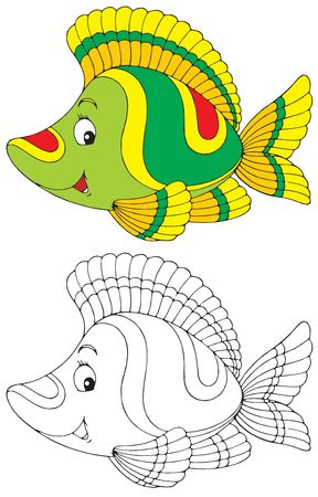 outline drawing of fish: Fish Stock Photo