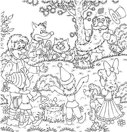 popular tale: Pinocchio  Buratino Stock Photo