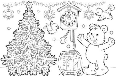 christmastide: Christmas coloring page