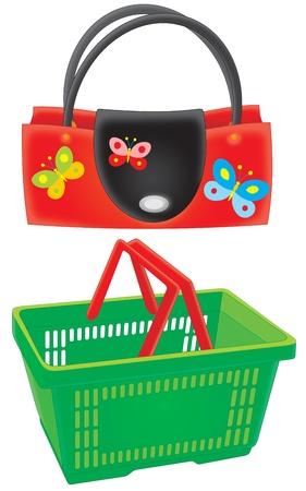 carrier bag: Handbag and market basket