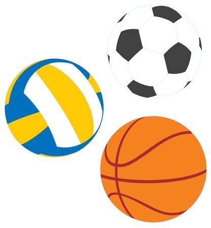 ballon basketball: Football, le basket-ball et volley-ball