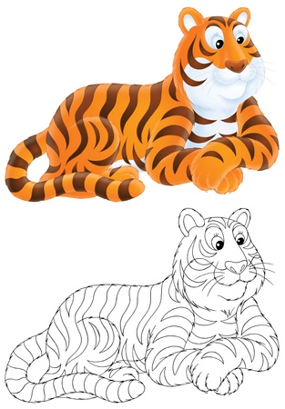 lineart: Tiger