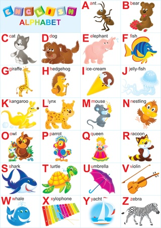 latin language: English alphabet for children  Stock Photo