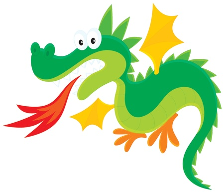 cartoony: fire-breathing dragon