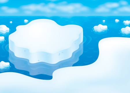 floe: Ice floes in a polar sea