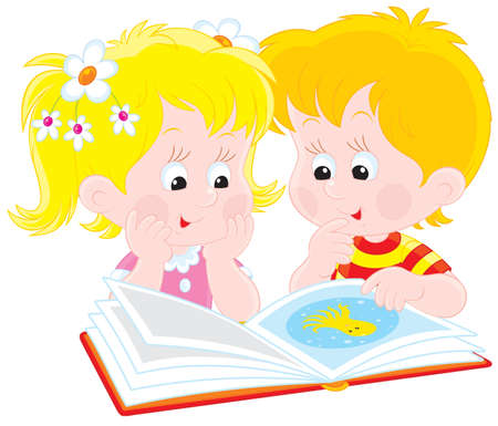reader: boy and girl reading