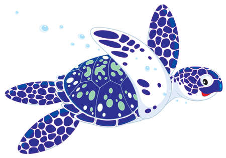 cartooning: Marine turtle
