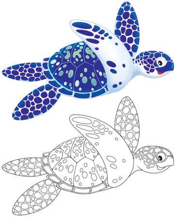 tortuga caricatura: Tortuga marina Foto de archivo