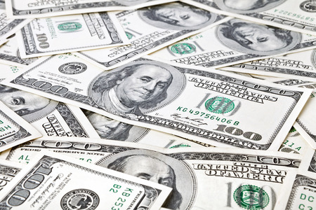 heap of dollar: money background from dollars usa.  business concept