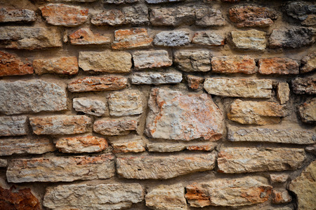 very dirty: very old dirty brick wal. exterior background Stock Photo