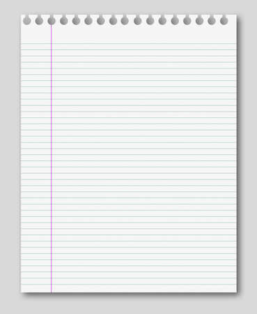 lined pages blank white paper background from lined page stock photo