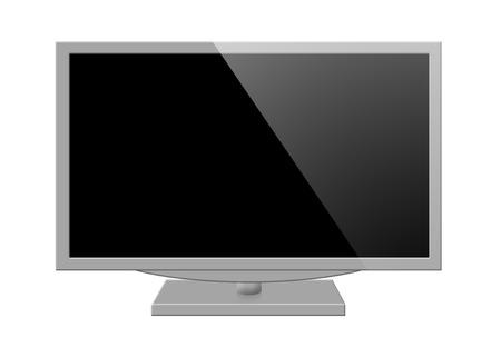 televisor: Illustration of modern tv set isolated on white background