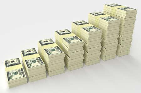 abundance money: Big money stack from dollars usa. Finance concepts
