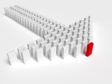 leading the way: Illustration of leader leads the team forward Stock Photo