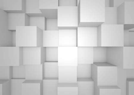 abstracto: Ilustración de mosaico abstracto fondo gris tridimensional
