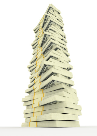 american money: Illustration of big money stack from dollars usa. Finance concepts