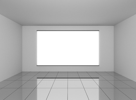 Abstract grey interior in room with blank white background photo