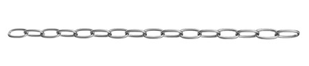 strained: Strained chain from metal isolated on white Stock Photo