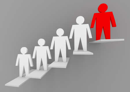 Business concepts illustration. Individuality and leadership in team Stock Photo