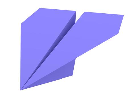 aerospace: Illustration of blue paper plane isolated on white Stock Photo