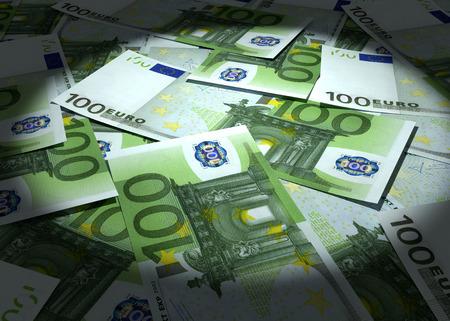 dinero euros: Fondo del dinero de muchos euros. Conceptos de negocio