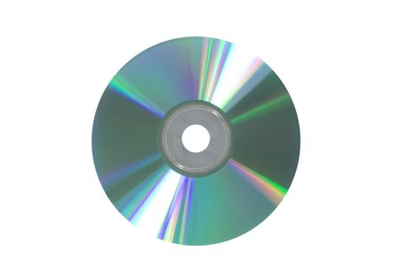 gigabytes: compact disk isolated on white  Stock Photo