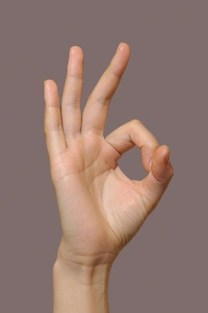 bodily: Female hand showing okay gesture