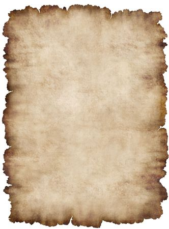 edges: Old torn list of parchment, antique background texture of a paper page from an ancient book, highly detailed