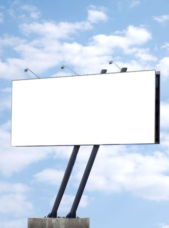 Blank billboard, advertisement hoarding background