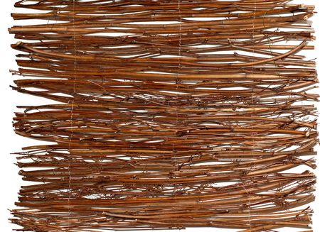 Wooden wattled rug background Stock Photo - 373244