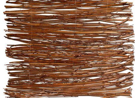 wattled: Wooden wattled rug background