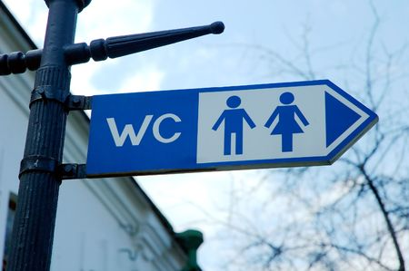 blue WC sign photo
