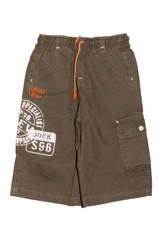 khaki: Childrens clothing boy khaki shorts isolated on white background Stock Photo