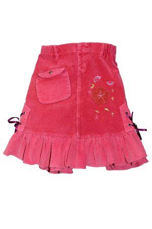 falda corta: Ropa de ni�os de corta falda roja aisladas sobre fondo blanco  Foto de archivo