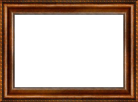 vintage foto: Antieke houten grungy achtergrond patroon Photo Frame geïsoleerde horizontale grens