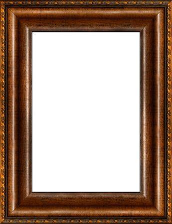 ornated: Antiquariato in legno grungy sfondo fantasia foto telaio verticale isolato confine