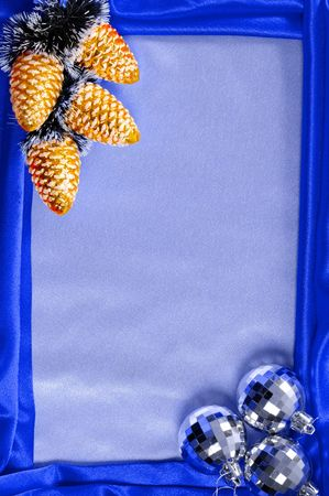 Blue decorative christmas frame