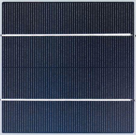 Polycrystalline solar cell close-up photo
