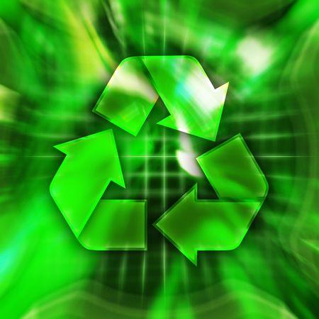 Green recycling symbol conceptual illustration Stock Illustration - 6543834