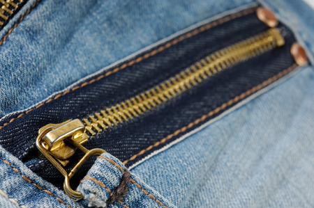 zipped: Zipped pocket of jeans Stock Photo