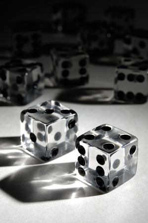 rpg: Set of dice conceptual still life
