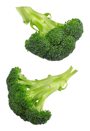 pices: Closeup of broccoli isolated on white background Stock Photo