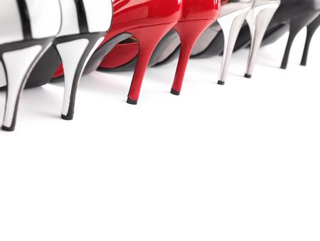 high heels shoes: High heel womens shoes closeup of heels