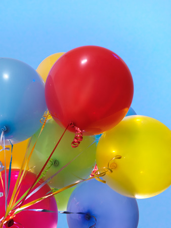 baloons: Colorful air balloons over blue sky background
