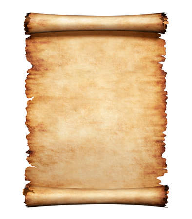 script: Old grungy piece of parchment paper. Antique manuscript letter background.