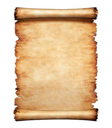 pergamino: Pedazo sucio viejo del papel de pergamino. Fondo antiguo carta manuscrito.