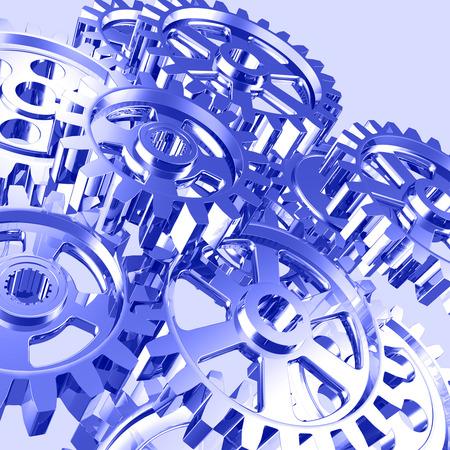 Set of machine gears artistic illustration illustration