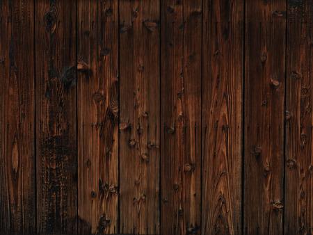 テクスチャー: 古い暗い木材木製壁のテクスチャ背景