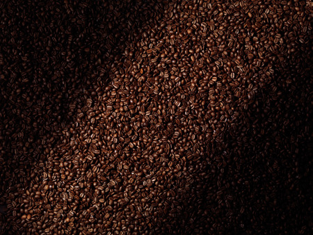 coffea: Roasted arabica coffee beans abstract artistic background texture Stock Photo
